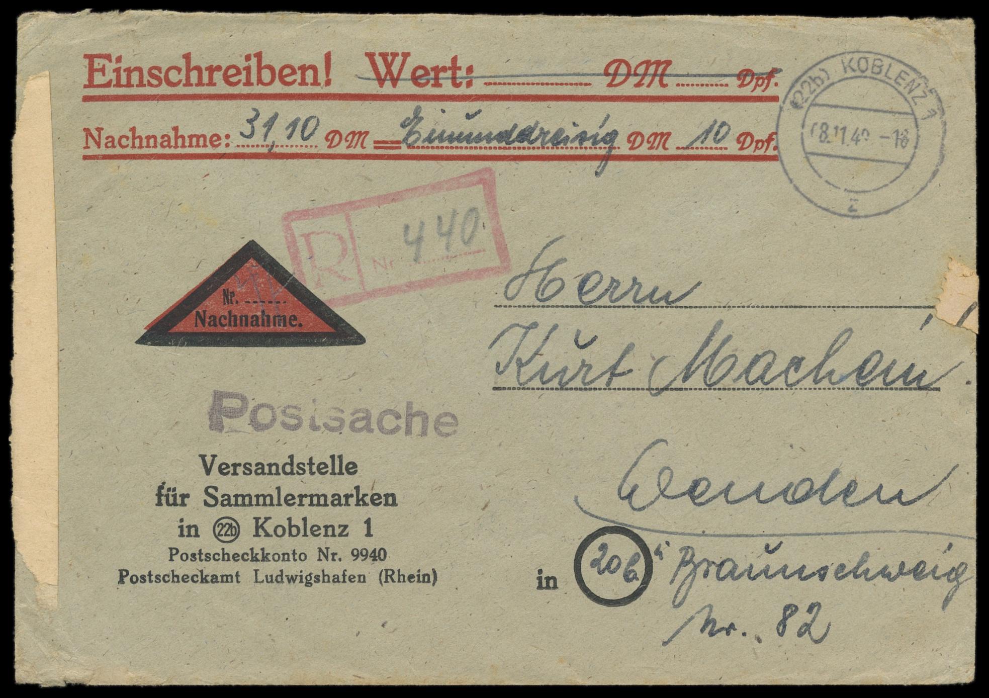 Lot 3602 - französische zone rheinland-pfalz -  Peter Harlos Auctions 42. Harlos Auktion