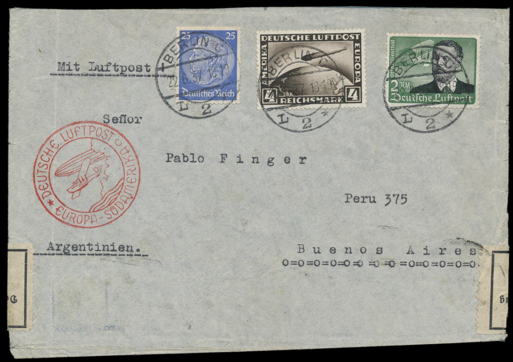 Lot 1907 - Flug- und Zeppelinpost flugpost -  Peter Harlos Auctions 42. Harlos Auktion