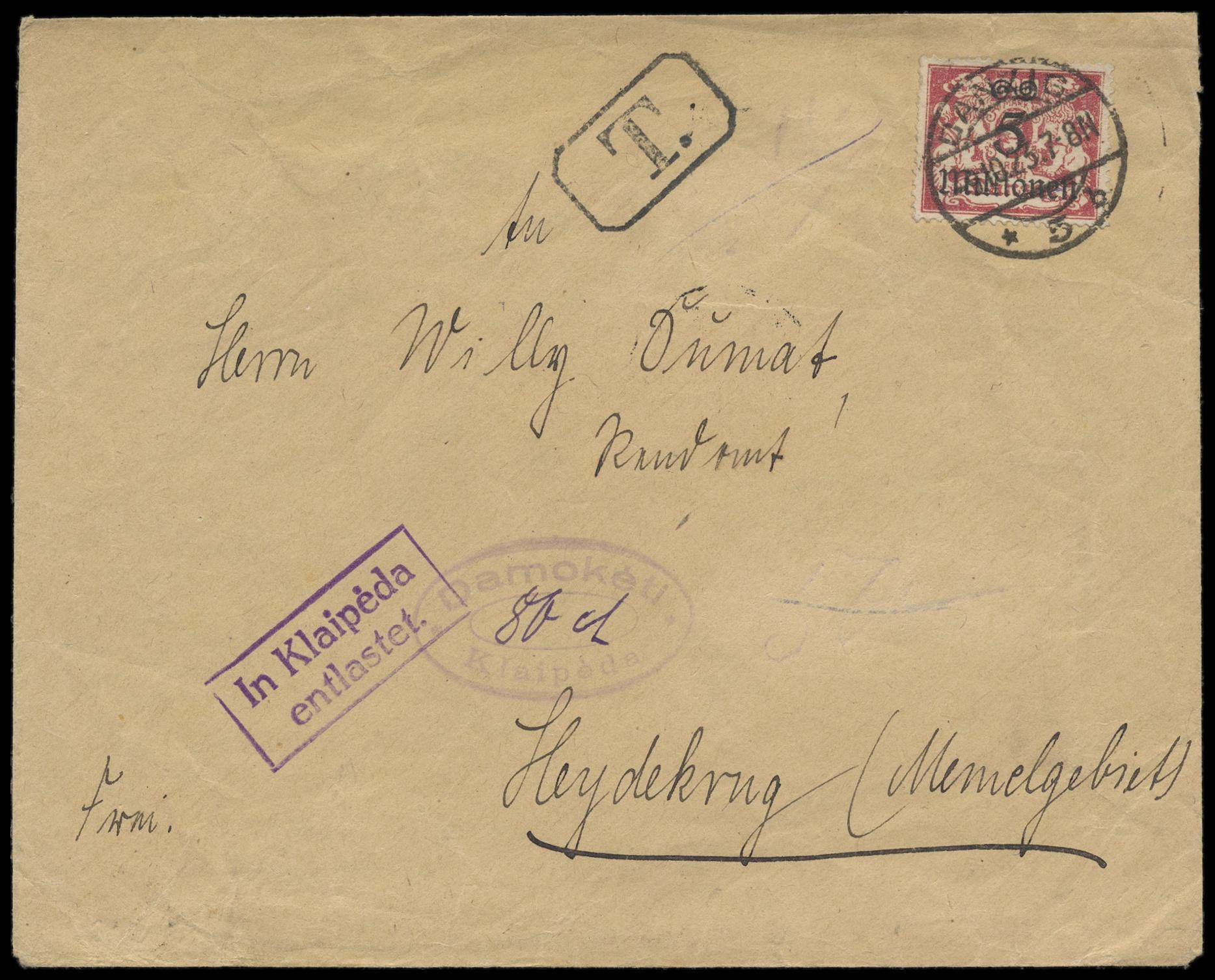 Lot 2431 - Main catalogue Memel -  Peter Harlos Auctions 42. Harlos Auktion