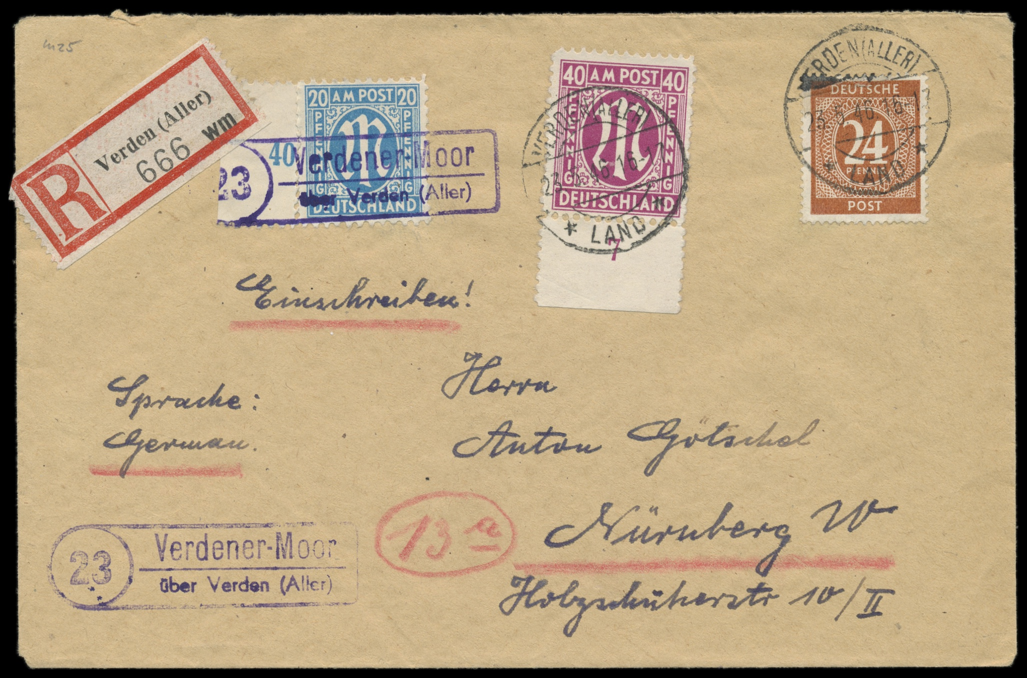 Lot 3766 - Amerikanische und Britische Zone AM-Post -  Peter Harlos Auctions 42. Harlos Auktion