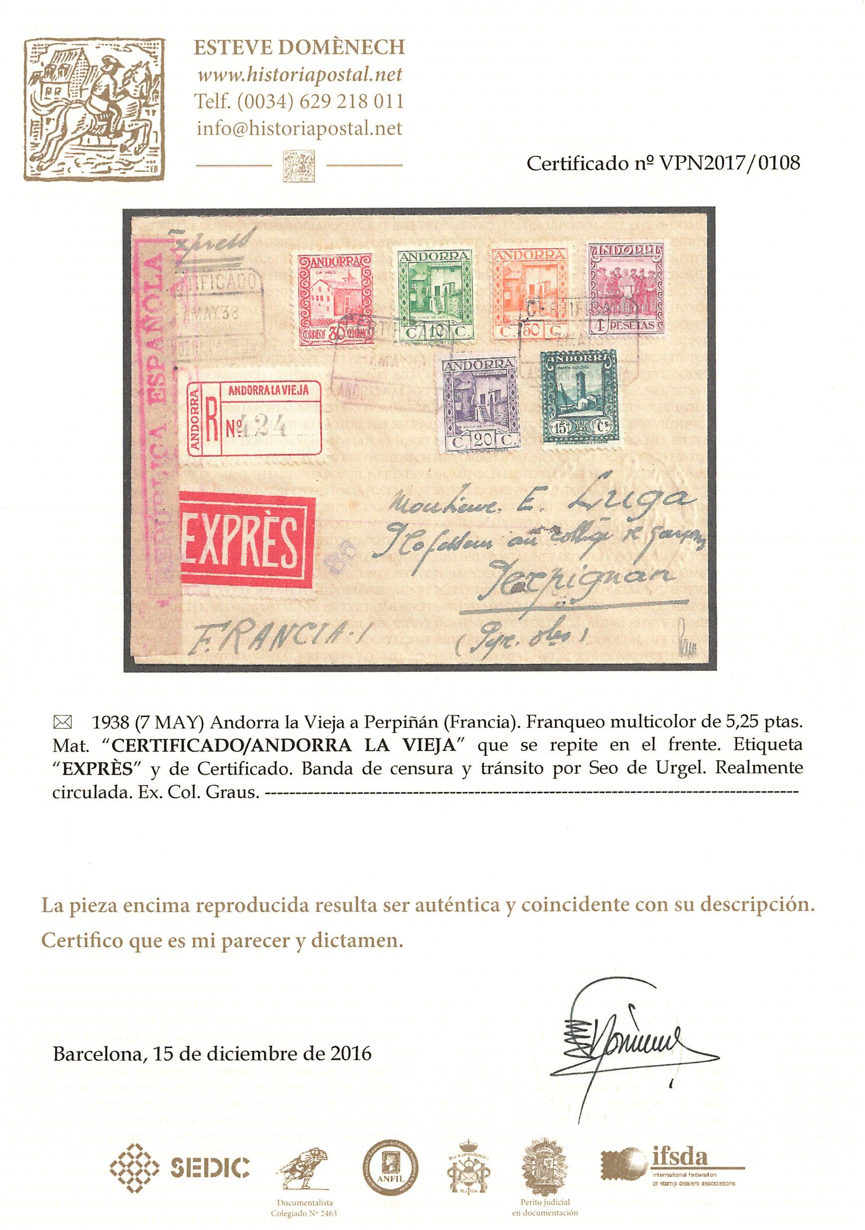 Lot 8 - europa Andorra -  Peter Harlos Auctions 42. Harlos Auktion