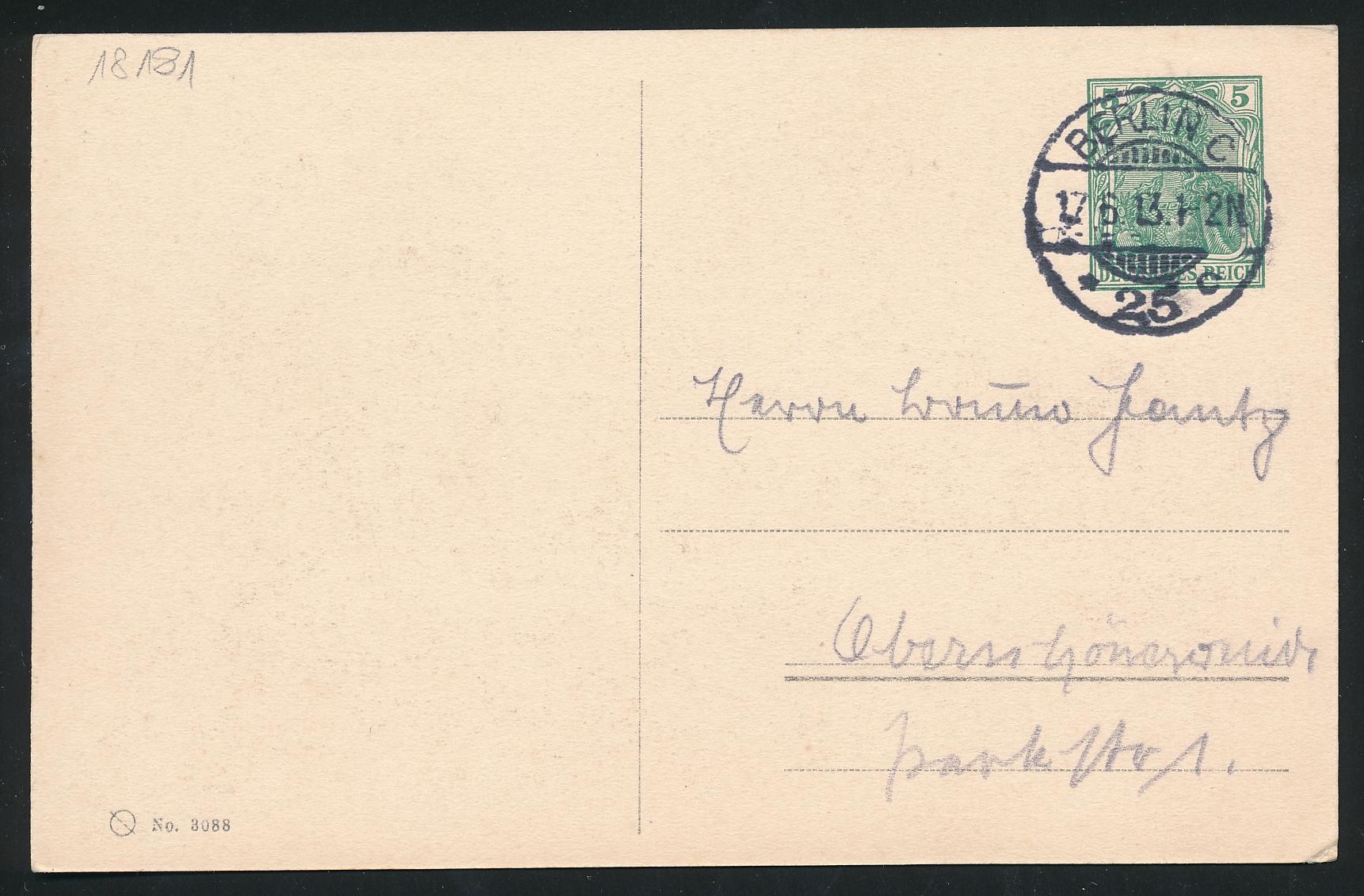 Lot 1654 - Deutsches Reich ab 1872 Privat-Ganzsachen -  Peter Harlos Auctions 42. Harlos Auktion