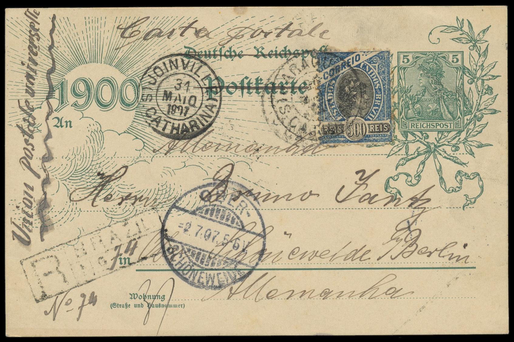 Lot 587 - übersee brasilien -  Peter Harlos Auctions 42. Harlos Auktion