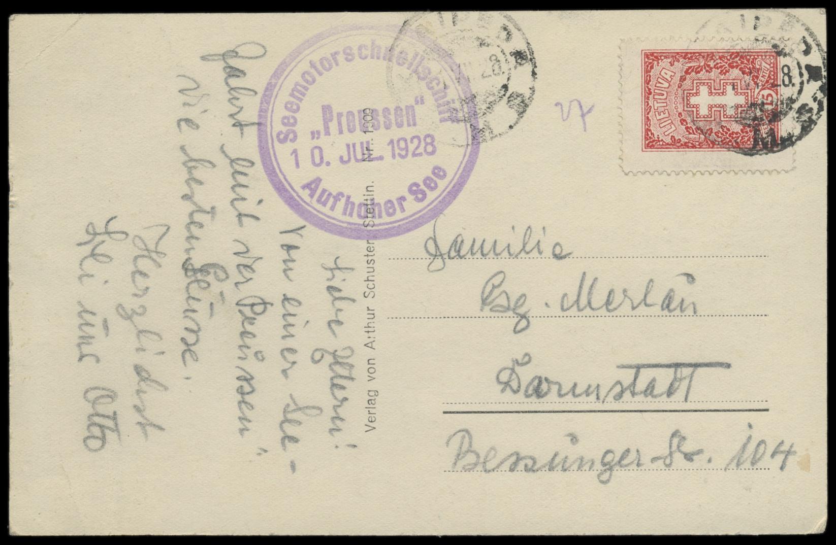 Lot 2435 - Main catalogue Memel -  Peter Harlos Auctions 42. Harlos Auktion