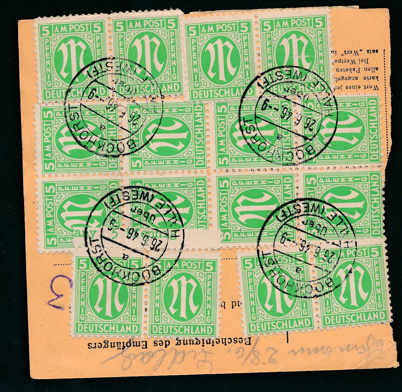 Lot 3783 - Amerikanische und Britische Zone AM-Post -  Peter Harlos Auctions 42. Harlos Auktion