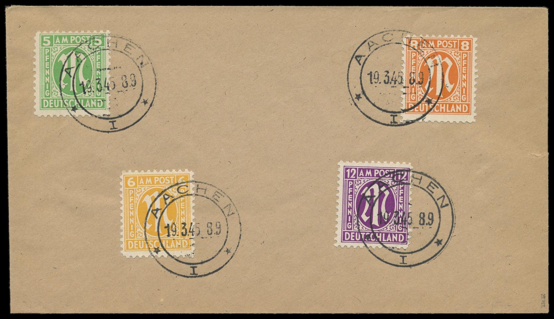 Lot 3697 - Amerikanische und Britische Zone AM-Post -  Peter Harlos Auctions 42. Harlos Auktion